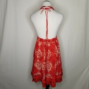 Free People Dresses - Free People Red Beach Day Minidress Halter POCKETS